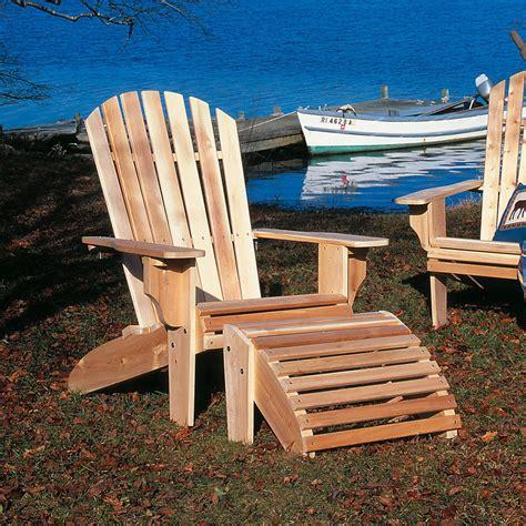 Cedar-Adirondack-Chair-With-Ottoman