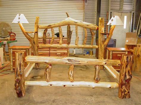 Cedar-Log-Bed-Plans