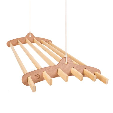 Ceiling Mounted Wooden Clothes Drying Rack