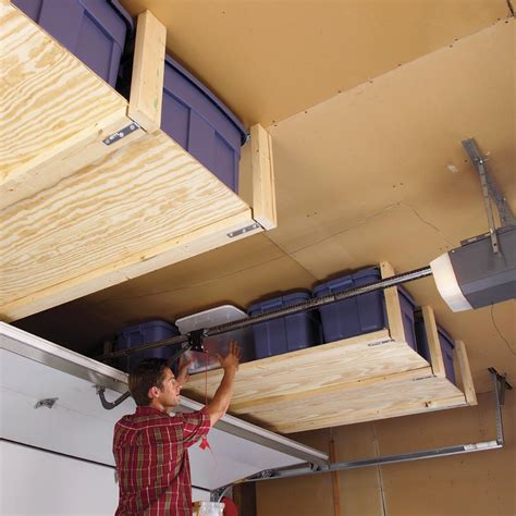 Ceiling Wood Storage Diy Plans