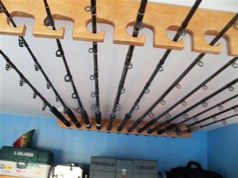 Ceiling-Wood-Fishing-Rod-Holder-Plans