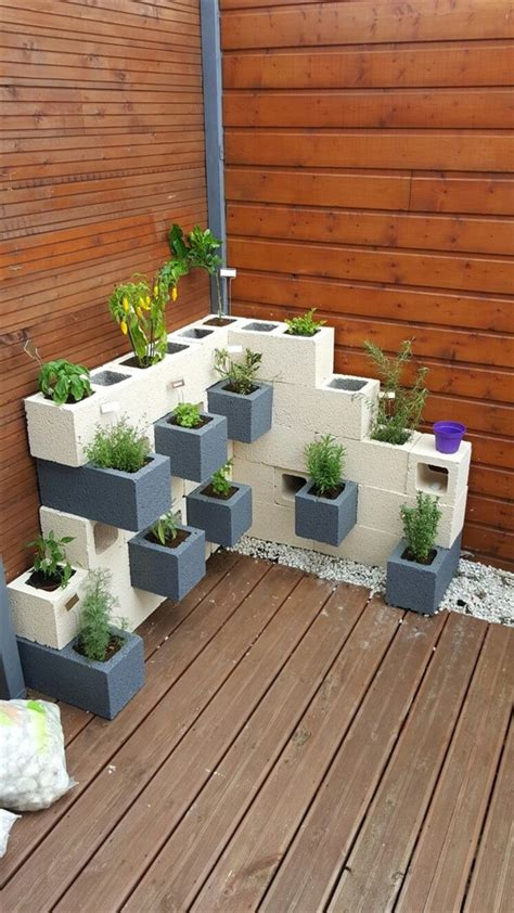 Cement Block Planter Designs