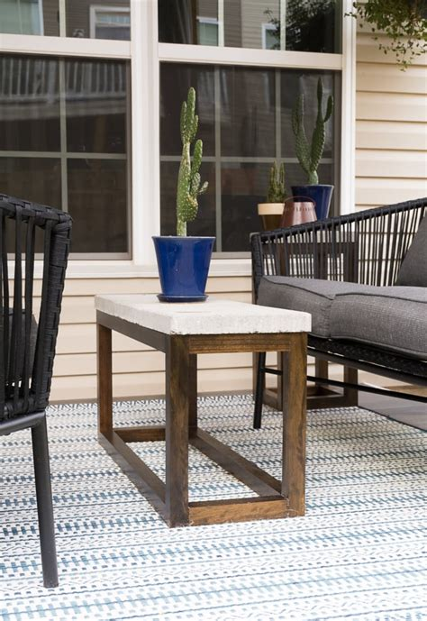 Cement End Table Diy Plans