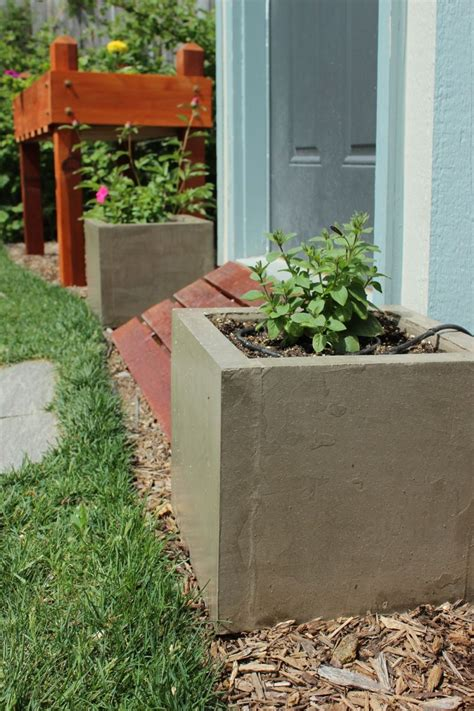 Cement Planter Boxes Diy