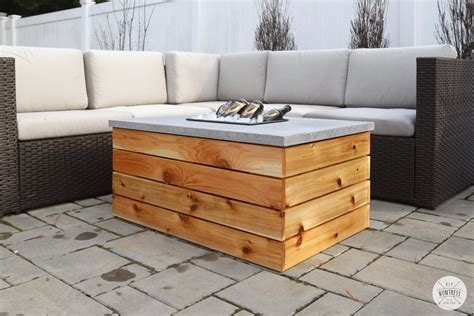 Cement Table Tops Diy Fire