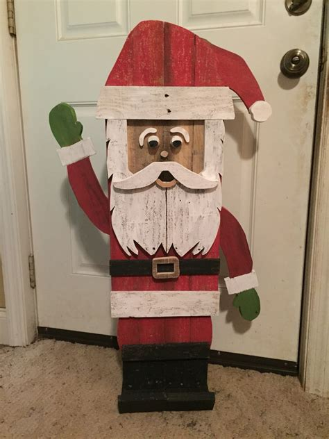 Cerused Wood Diy Santa Pallet