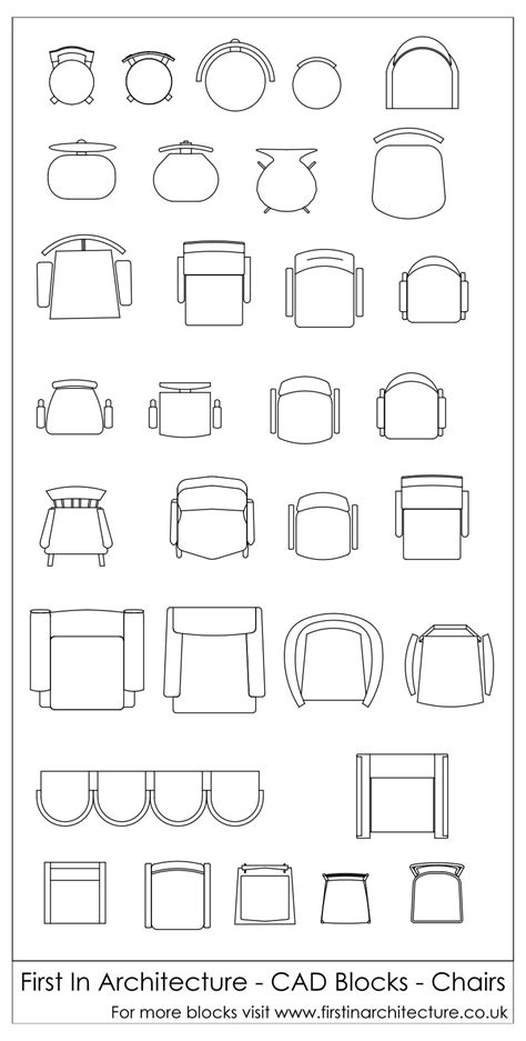 Chair-In-Plan-Cad-Block