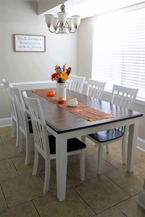 Chalk Paint Dining Table Diy