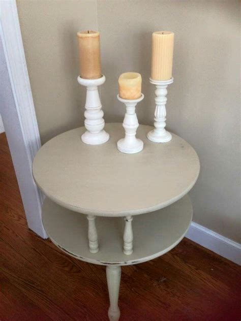 Chalk Paint Round Side Table