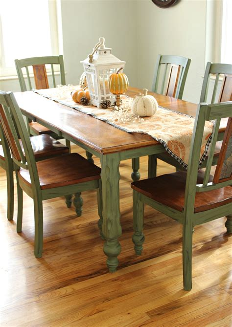Chalk Painted Dining Tables And Chairs
