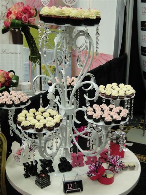 Chandelier Cupcake Stand Diy With Bride