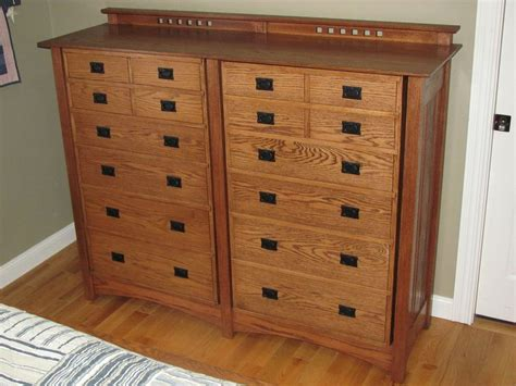 Changing Mission Style Dresser Woodworking Plans