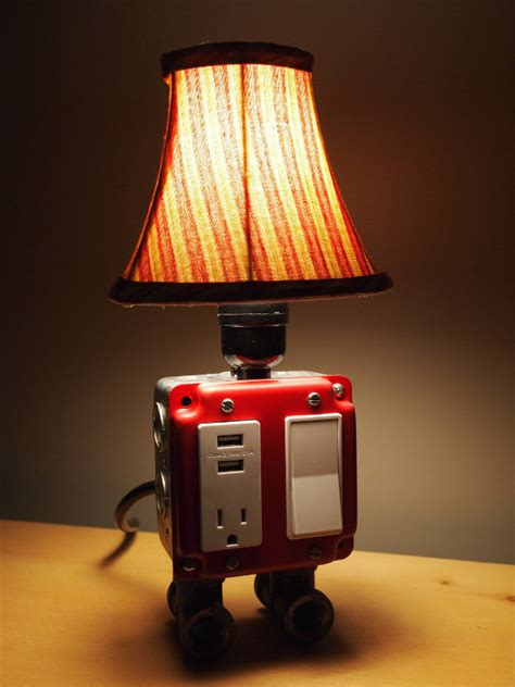 Charging Station Table Lamp
