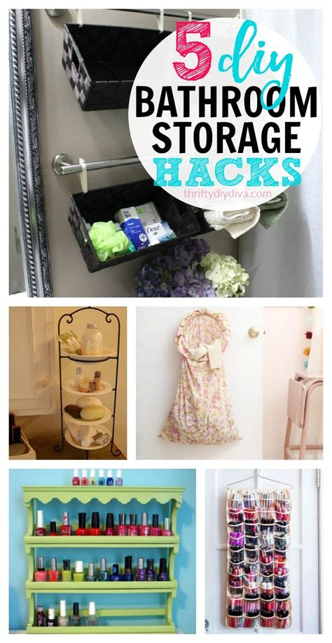 Cheap Diy Bathroom Storage Ideas