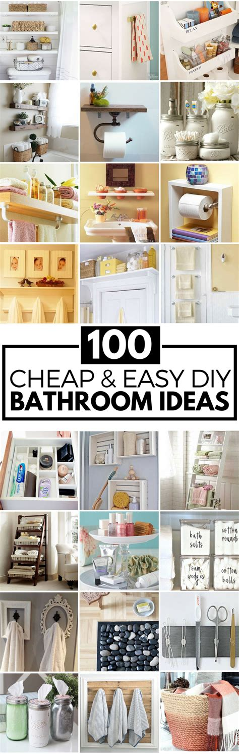 Cheap Easy Diy Bathroom Ideas