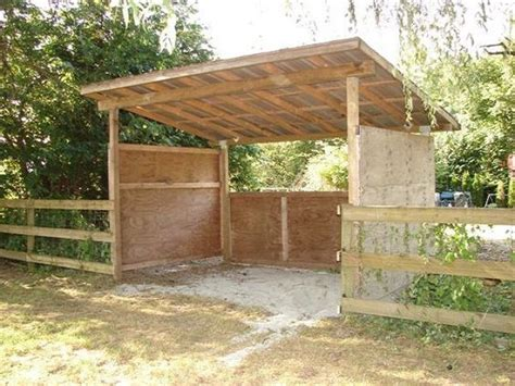 Cheap Horse Shelter Plans
