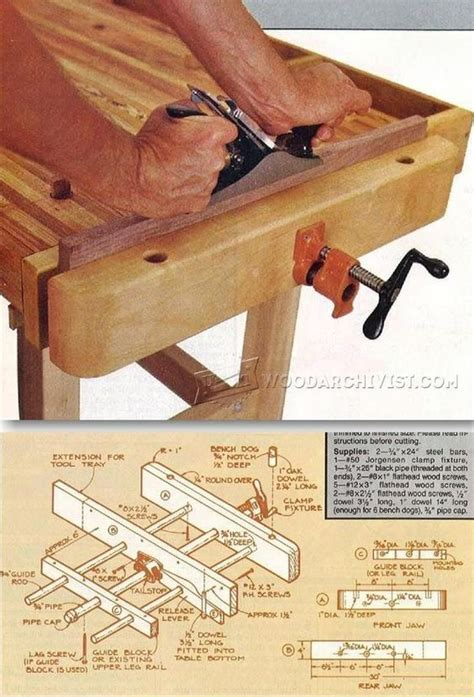 Cheap Woodworking Benvh Vise Plans