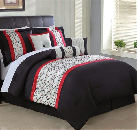 Cheapest Price For Red Black And Gray Bedding