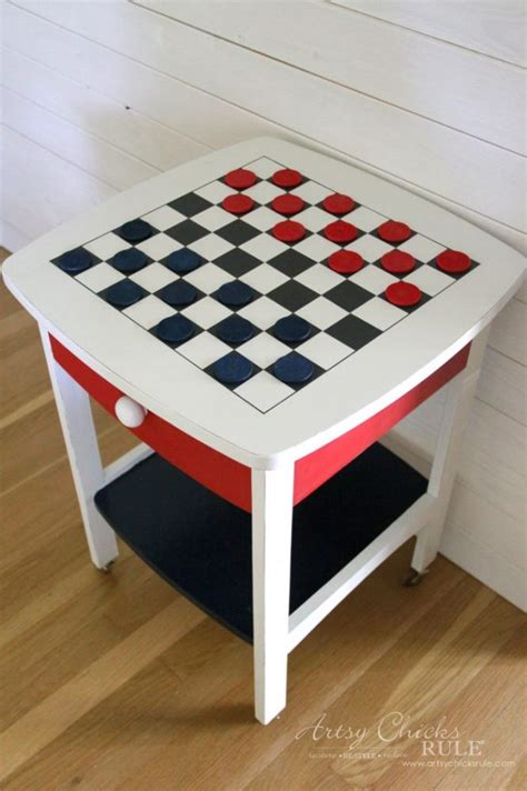 Checkerboard-Table-Diy