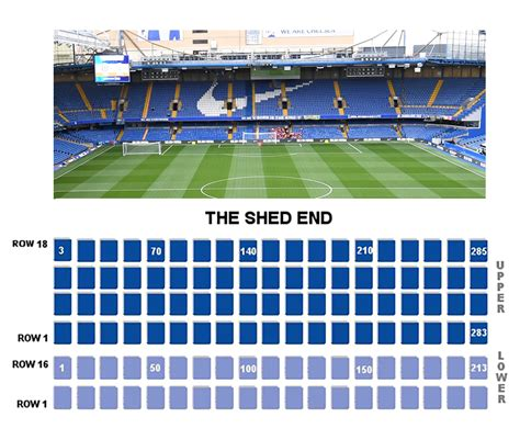Chelsea Shed End Seating Plan