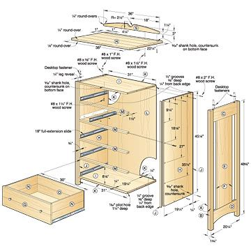 Chest Of Drawers Plans PDF