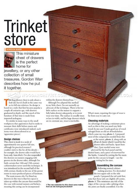 Chest Of Drawers Plans Utah
