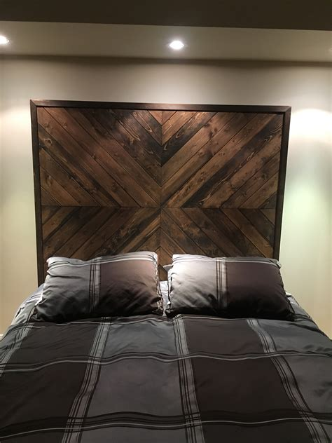 Chevron Wood Headboard Diy White Washing Brick