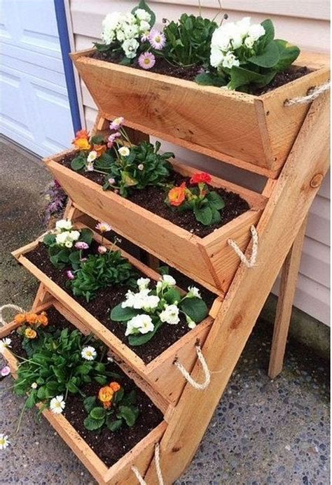 Chevron Wood Planter Diy Pots
