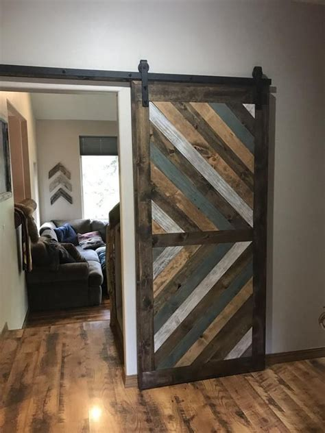 Chevron Wood Sliding Doors Diy
