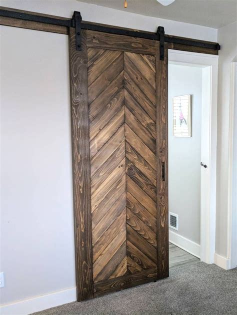 Chevron Wood Sliging Doors Diy