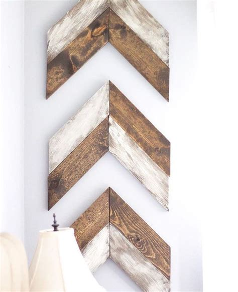 Chevron Wood Wall Decor Diy