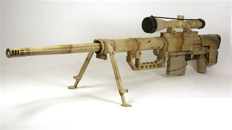 Cheytac 408 Sniper Rifle And Harpers Ferry Flintlock Rifle