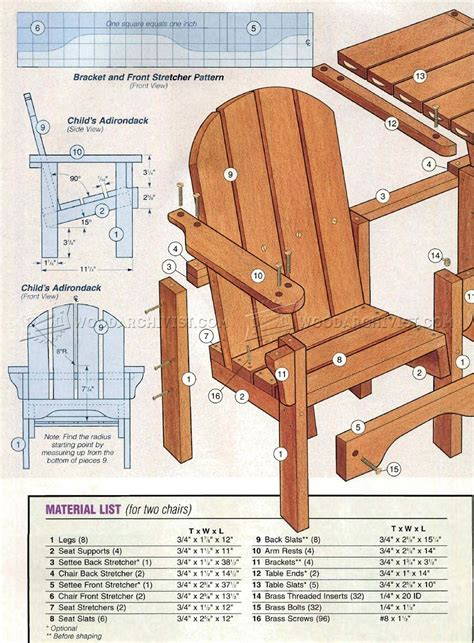 Child Adirondack Chair Plan