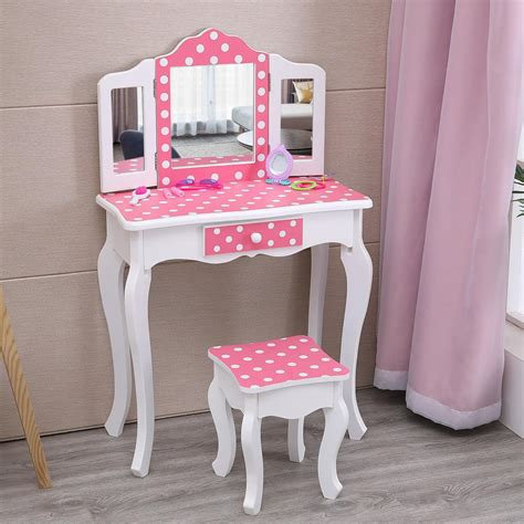 Child Vanity Table And Stool