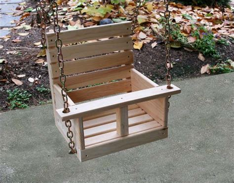 Child Wooden Swing Seat Plans