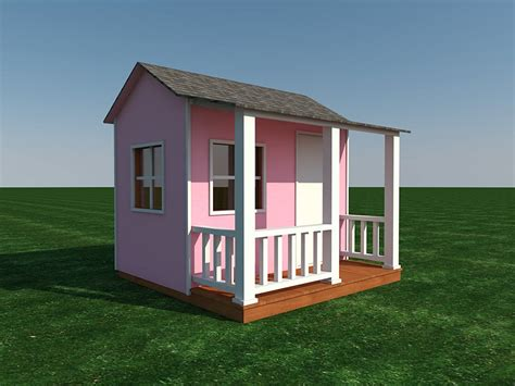 Childrens Outside Playhouse And Garage Plans