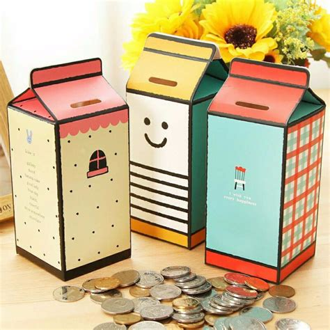 Childrens Saving Money Boxes DIY