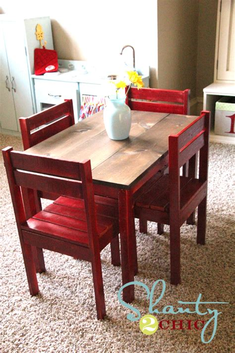 Childrens Table And Chairs Diy Room
