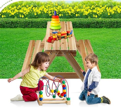 Childrens Wooden Picnic Table NZ