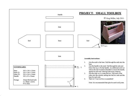 Childrens Wooden Tool Box Plans