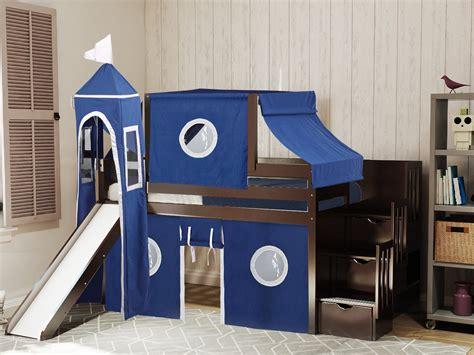Childrens-Loft-Bed-With-Slide-Plans