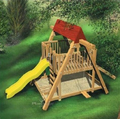 Childrens-Playhouse-With-Slide-Plans