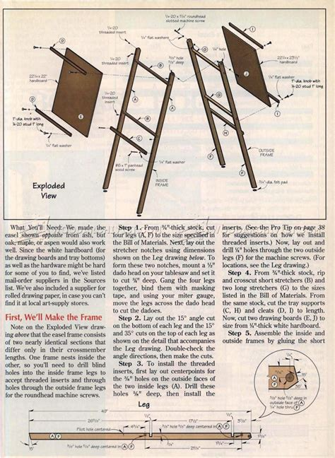Childs Easel Woodworking Plans
