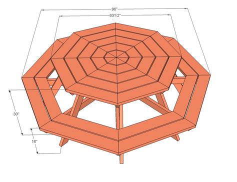 Childs Octagon Picnic Table Plans