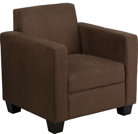 Chocolate Brown Microfiber Accent Chair