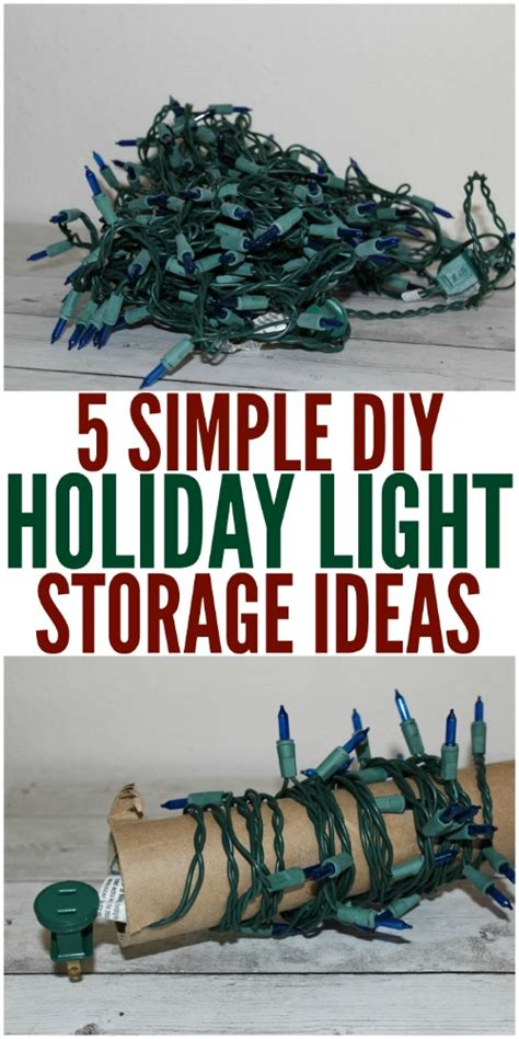 Christmas Light Storage Diy