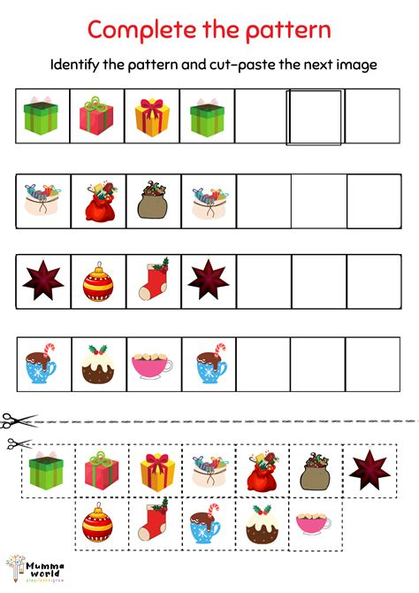 Christmas Patterns Worksheet