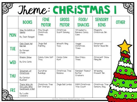 Christmas Preschool Lesson Plans