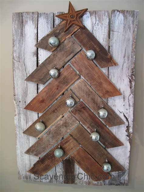 Christmas Tree Diy With Pallet Wood
