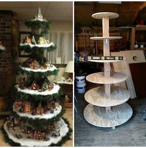 Christmas Village Display Stands DIY